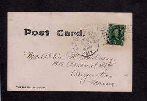 ME House LISBON FALLS ? MAINE Real Photo RPPC Postcard 1905 PC UDB