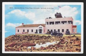 Summit House Pikes Peak Colorado Unused c1940