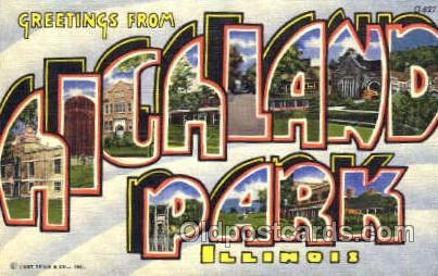 Greetings From Hickland park, Illinois, USA Large Letter Town Towns Postcard ...