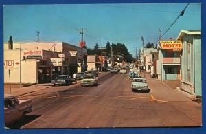 Ilwaco Washington wa Street Scene chrome postcard