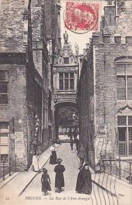 BRUGES (West Flanders), Belgium, PU-1906 ; La Rue de l'Ane-Aveugle