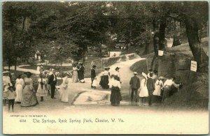 c1900s ROCK SPRINGS PARK West Virginia Postcard The Springs Rotograph Unused