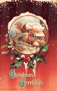 Christmas Postcard Old Vintage Antique Post Card 1911 John Winsch