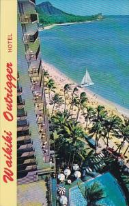 Hawaii Honolulu The Outrigger Hotel Located On Beach In The Heart Of Waikiki