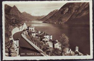 P1371 vintage postcard unused view gandria e strada switzerland