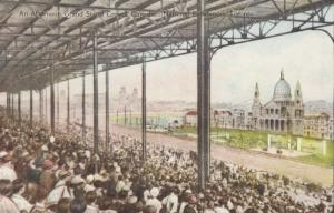 TORONTO , Ontario , Canada , 1900-10s ; C.N.E. Grand Stand Crowd