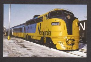 ON Northlander Railroad Train North Bay Ontario Canada Carte Postale Postcard