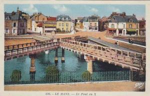 Bridge X Shape, Le Pont En X, Le Mans (Sarthe), France, 1900-1910s