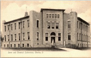 Vtg 1900s Sever and Chemical Laboratory Oberlin College Ohio OH Postcard