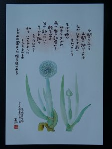 ONION FLOWERS Paintings Poems by Japanese Disabled Artist Tomihiro Hoshino PC