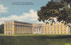 Iowa Cedar Rapids Greene Hall Men's Dormitory Coe College Curteich