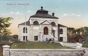 Vermont Rutland Memorial Hall 1909