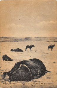 F48/ Lee Montana Postcard '09 Bison Hunt Horses Milestone Huffman Image