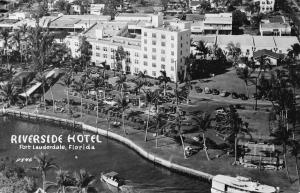 Fort Lauderdale Florida Riverside Hotel Real Photo Antique Postcard J56129