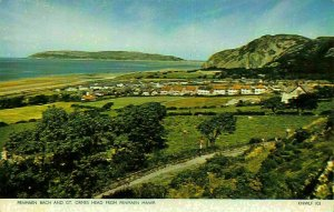 Penmaen Bach and Gt. Ormes Head from Penmaen Mawr Panorama Postcard