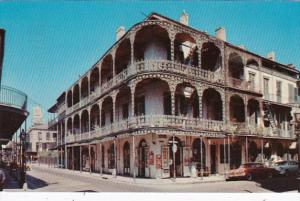 Louisiana New Orleans Lace Balconies 700 Royal Street 1956