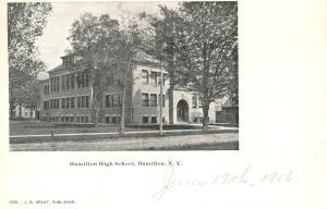 High School at Hamilton NY, New York - UDB