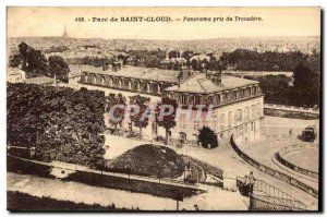 Old Postcard Parc de Saint Cloud Panorama taken Trocadero