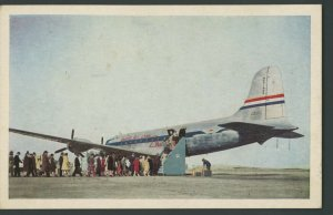 1946  Aviation  United Airlines DC-6 Mainliner 8 CENT AIR MAIL STAMP Postcard