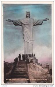 RP; Hand-tinted, Rio de Janerio, Monumento, Cristo Redentor - Monument of Chr...