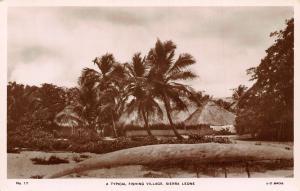Sierra Leone A Typical Fishing Village Postcard