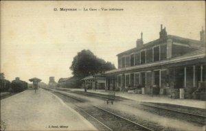 Mayenne France La Gare RR Train Station c1915 Postcard