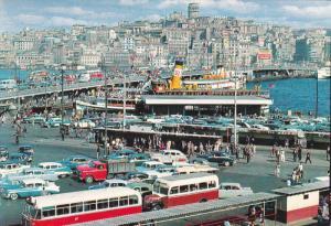 ISTANBUL, Turkey, 1950-1970´s; Galata Bridge