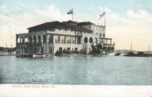 Detroit Boat Club Belle Isle Detroit MI Michigan c1907 Antique Postcard E7
