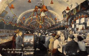 Birmingham AL Faulkner's Post Card Exchange Club~Bar & Hanging Bells~c1910 PC