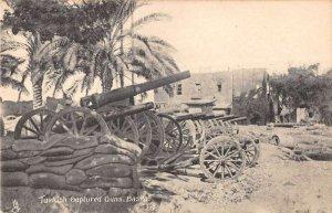 Basra Iraq view of Turkish captured guns by Tuck Pub antique pc ZB548018