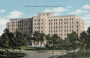 CHARLOTTE , North Carolina; 1930-40s; Charlotte Memorial Hospital