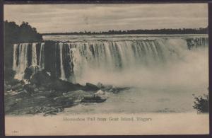Horshoe Falls From Goat Island,Niagara Falls,NY Postcard