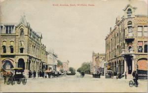 Ninth Avenue Winfield Kansas KS UNUSED Antique Postcard D88