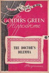 The Doctors Dilemma Bernard Shaw Drama Golders Green Theatre Programme