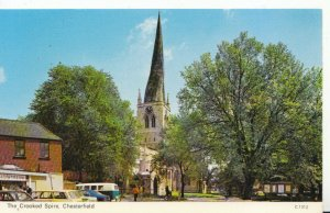 Derbyshire Postcard - The Crooked Spire - Chesterfield - Ref 2097A