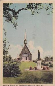 Exterior, Memorial Church and Evangeline Monument, Grand Pre, Canada, PU-1950