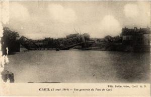 CPA Militaire, Creil - Vue generale du Pont de Creil (278487)