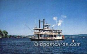 Steamer Chaitaiqia Belle, Mayville, New York, NY USA Ferry Ship Unused