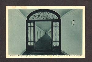 Italy Hotels Savoia & Majestic Gare Centrale Genova Genoa Postcard Carte Postale