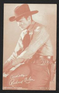 ARCADE CARD Cowboy Entertainer Richard Arlen