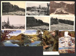 New Zealand lot 10 vintage postcards