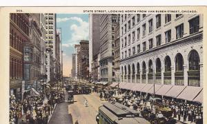 Trolley Bus, State Street, Looking North From Van Buren Street, CHICAGO, 00-10s
