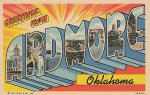 Large Letter ARDMORE, Oklahoma, 30-40s