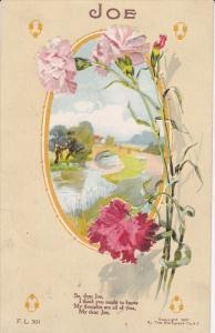 Greetings, JOE, Poem, Roses, PU-1909