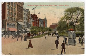 Boston, Mass, Tremont Street South from West Street
