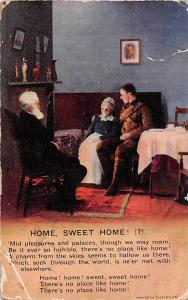 Family Scene: Home, Sweet Home Mid pleasures and places, we may roam...