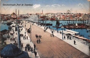Pont de Stamboul Constantinople Turkey Unused