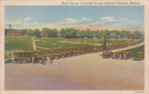 Missouri Fort Jefferson Motor Convoy At Parade Ground Jefferson Barrakcs 1942...