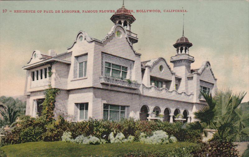 HOLLYWOOD, California;Residence of Paul De Longpre, Famous Flower Painter, 00...