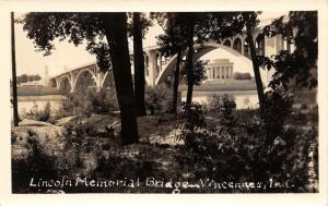 Vincennes Indiana~Lincoln Memorial Bridge~Under Arches~1930s Real Photo~RPPC